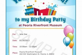 011 Fascinating Microsoft Word Birthday Invitation Template Photo  Editable 50th 60th