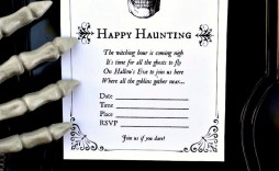 011 Fearsome Free Halloween Invitation Template Concept  Templates Microsoft Word Wedding Printable Party