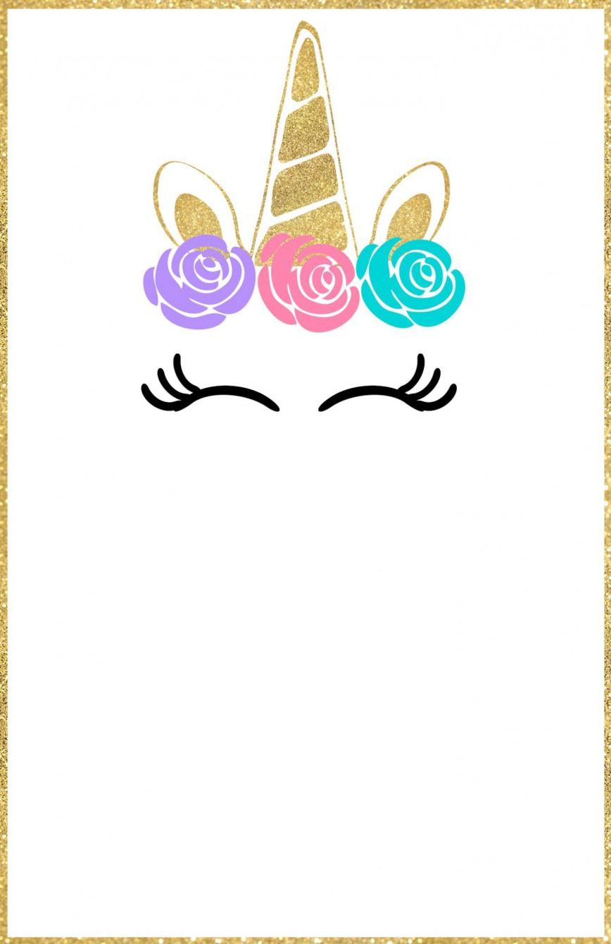 011 Fearsome Unicorn Baby Shower Template Free Download Idea  Printable Invitation