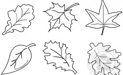 011 Formidable Blank Leaf Template With Line Idea  Lines Printable