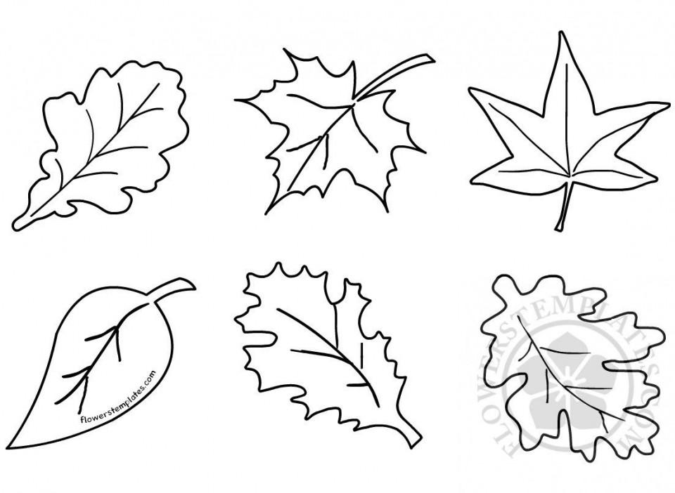011 Formidable Blank Leaf Template With Line Idea  Printable960