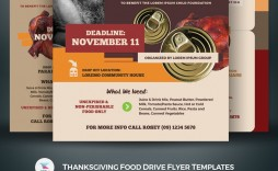 Food Drive Flyer Template Addictionary