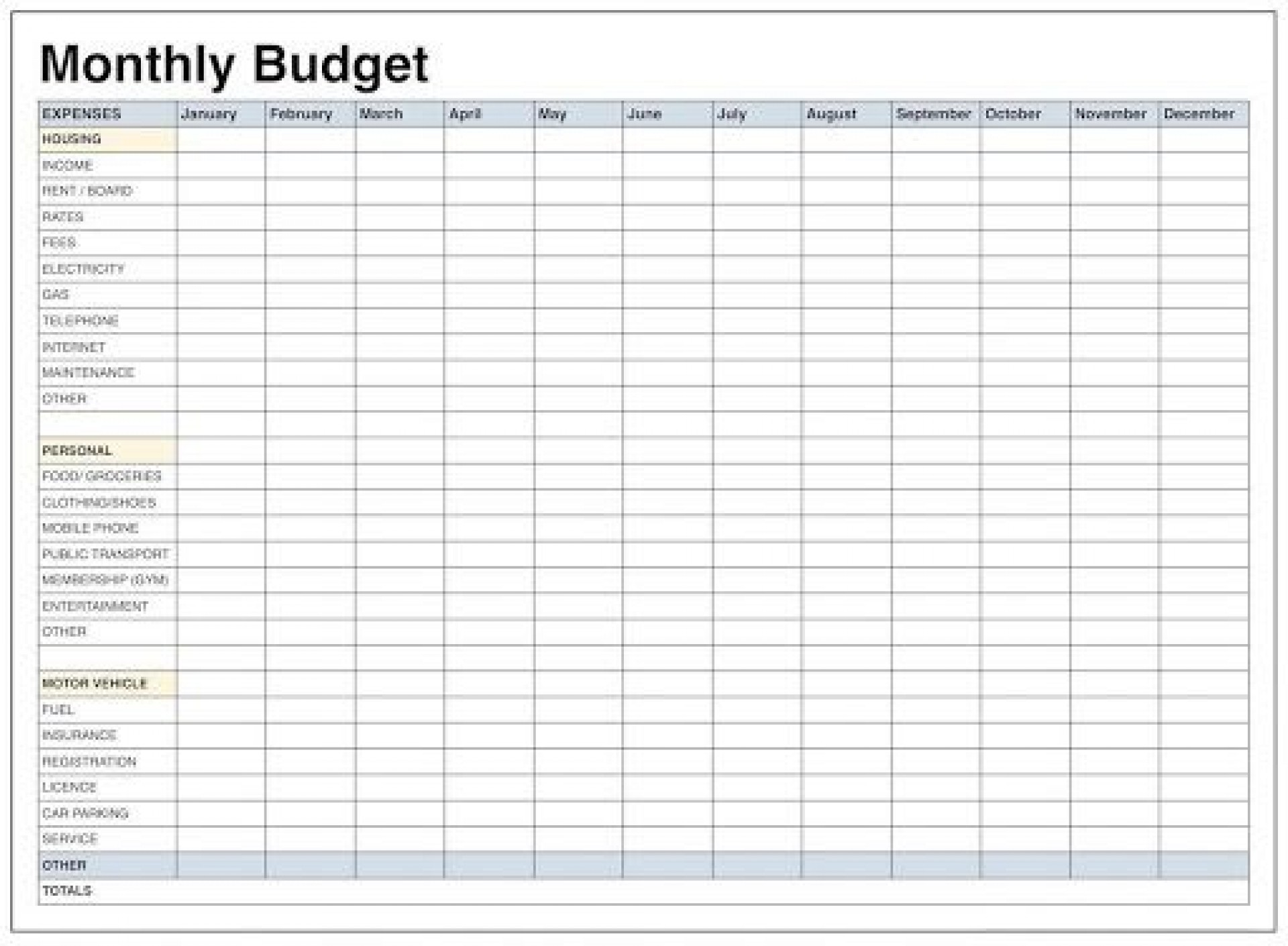 011 Formidable Free Monthly Budget Template For Excel Highest Clarity  Personal Planner Household Uk Worksheet1920