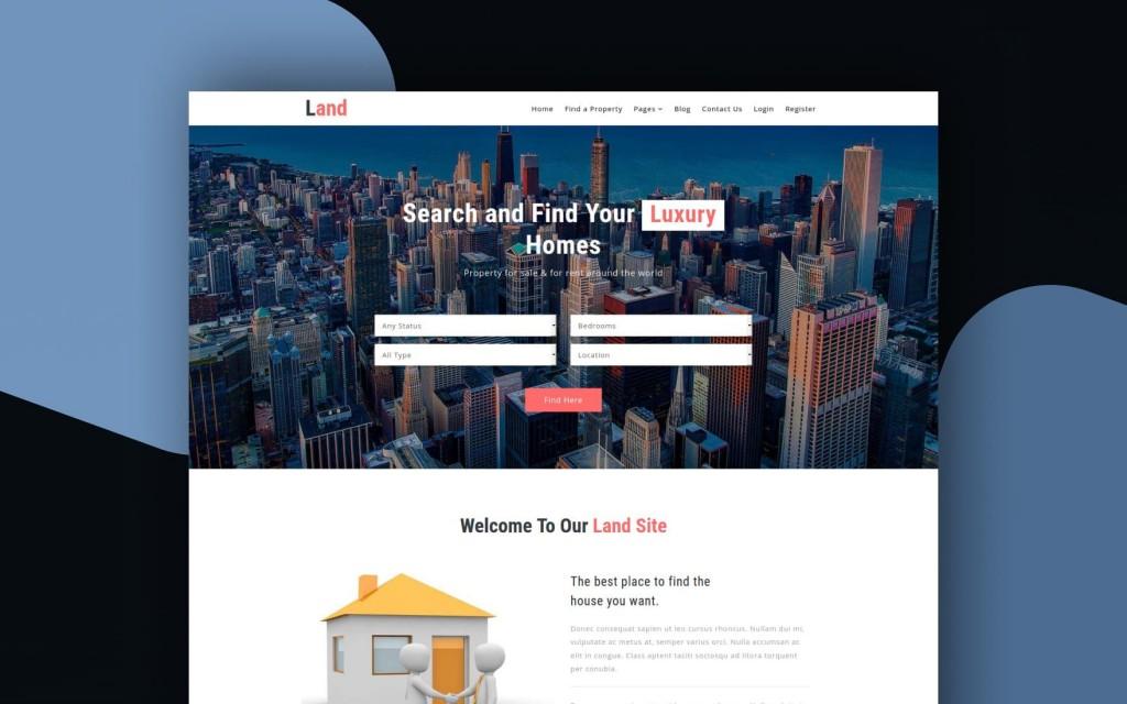 011 Formidable Real Estate Website Template High Definition  Templates Bootstrap Free Html5 Best WordpresLarge