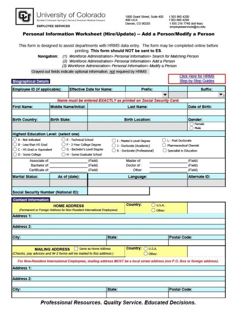 011 Impressive Employee Personnel File Template Highest Clarity  Uk Excel Form480