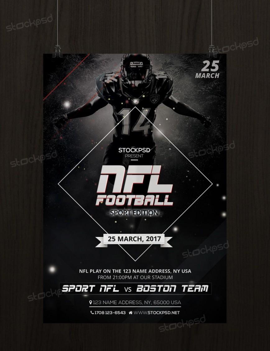 011 Impressive Football Flyer Template Free Sample  Fantasy Psd American