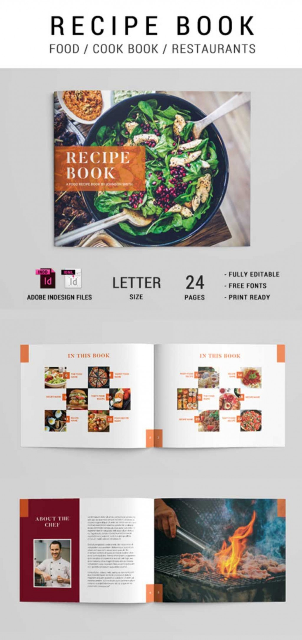 011 Impressive Free Make Your Own Cookbook Template Download Photo Large