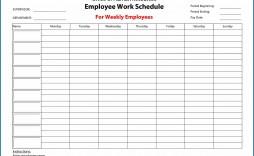 011 Impressive Hourly Work Schedule Template Word Idea