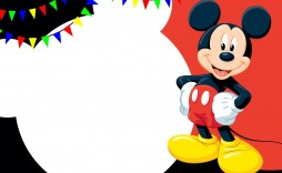011 Impressive Mickey Mouse Invitation Template Sample  Templates Clubhouse Birthday Free 1st Download