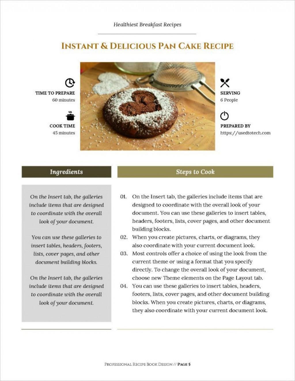 011 Impressive M Word Recipe Template Photo  Microsoft Card 2010 Full PageLarge