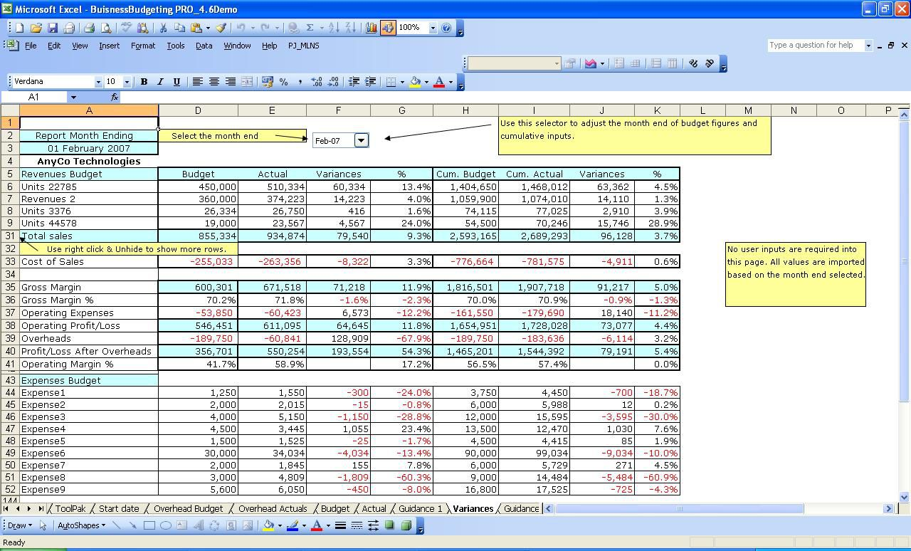 011 Incredible Excel Busines Budget Template Highest Quality  Small Monthly Yearly Free SpreadsheetFull