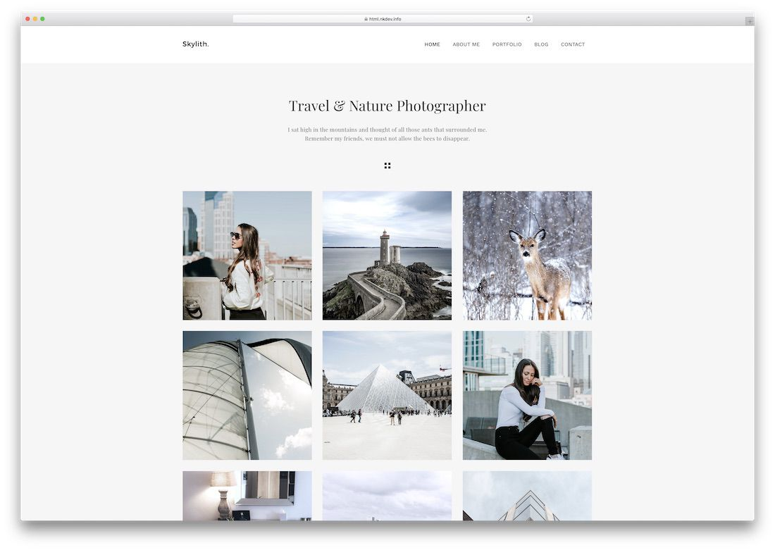 011 Incredible Website Template For Photographer High Resolution  Photographers Free Responsive Photography Php BestFull