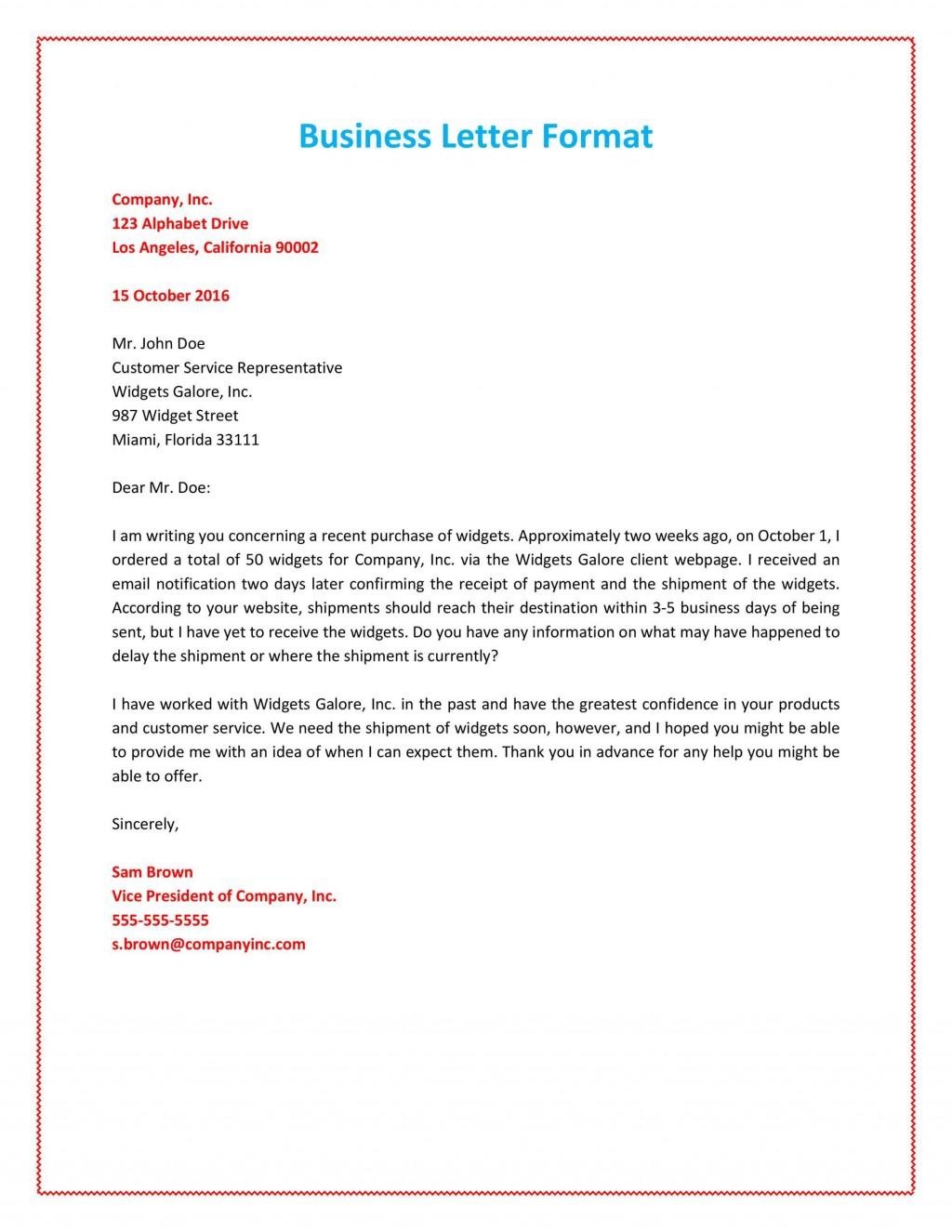 011 Marvelou Busines Letter Template Word Sample  Cover FreeLarge
