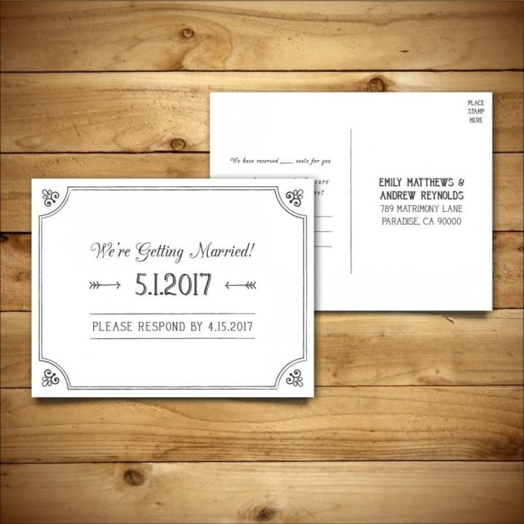 011 Marvelou Rsvp Postcard Template For Word High Definition Large