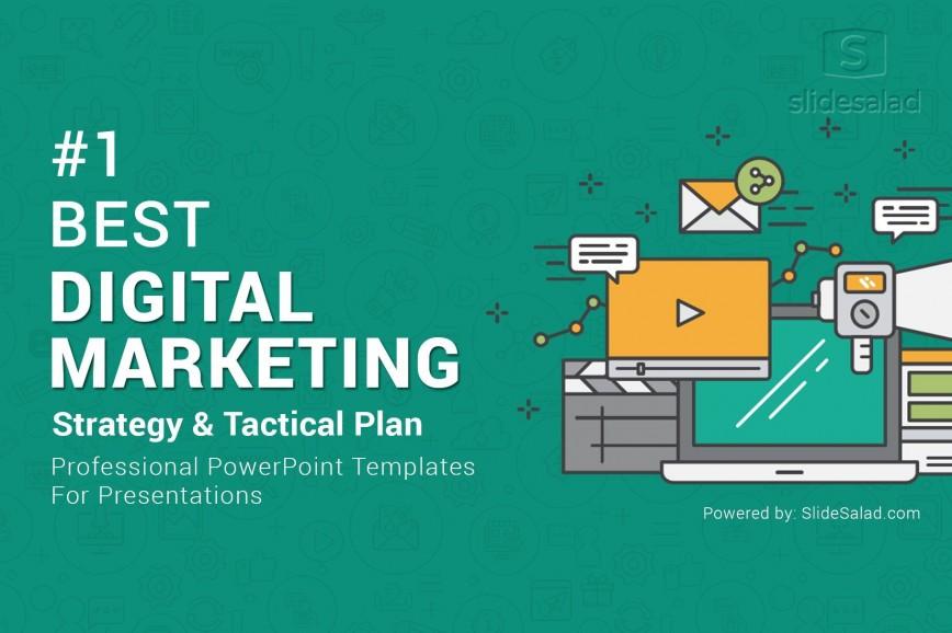 011 Rare Free Digital Marketing Plan Template Ppt Concept