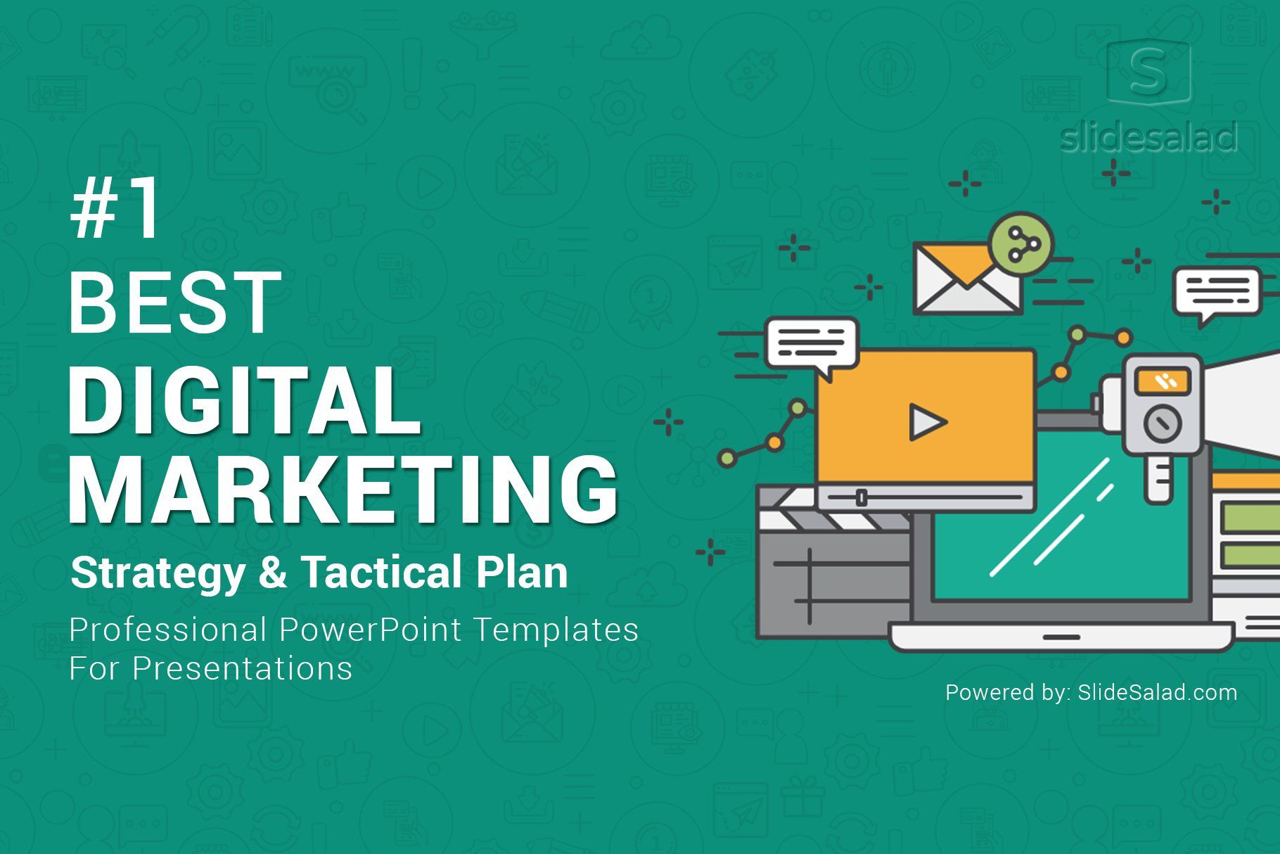 011 Rare Free Digital Marketing Plan Template Ppt Concept Full