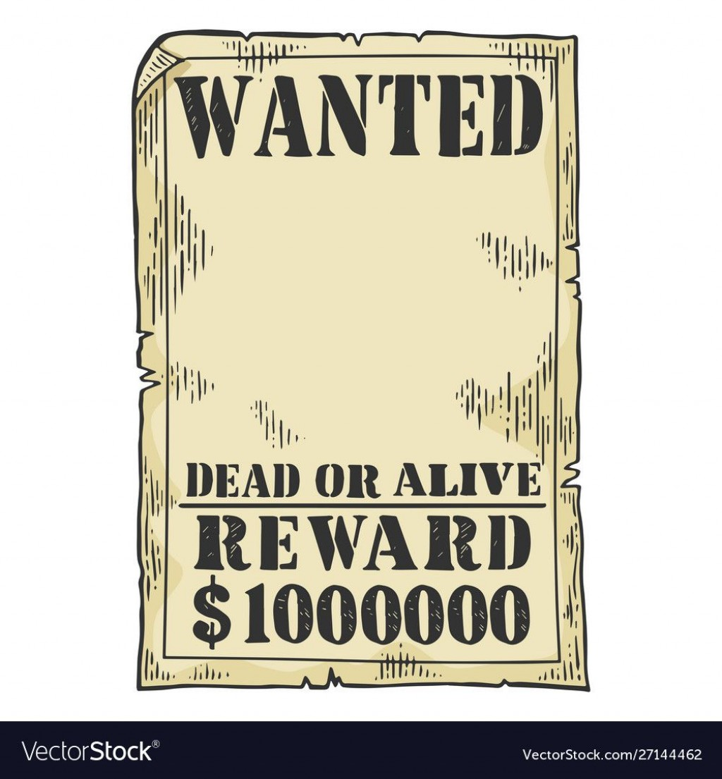 011 Sensational Wanted Poster Template Pdf Inspiration  Free CharacterLarge