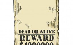 011 Sensational Wanted Poster Template Pdf Inspiration  Free Character