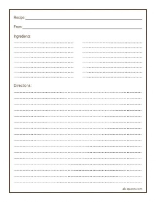 011 Simple Free 4x6 Recipe Card Template For Microsoft Word Highest Quality  Editable320