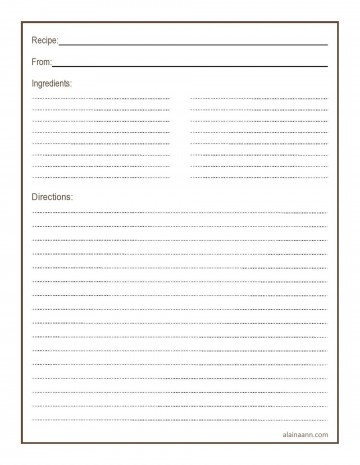 011 Simple Free 4x6 Recipe Card Template For Microsoft Word Highest Quality  Editable360