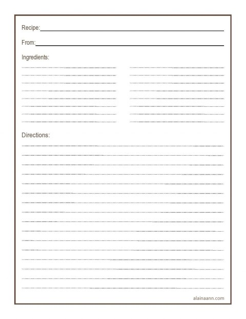 011 Simple Free 4x6 Recipe Card Template For Microsoft Word Highest Quality  Editable480