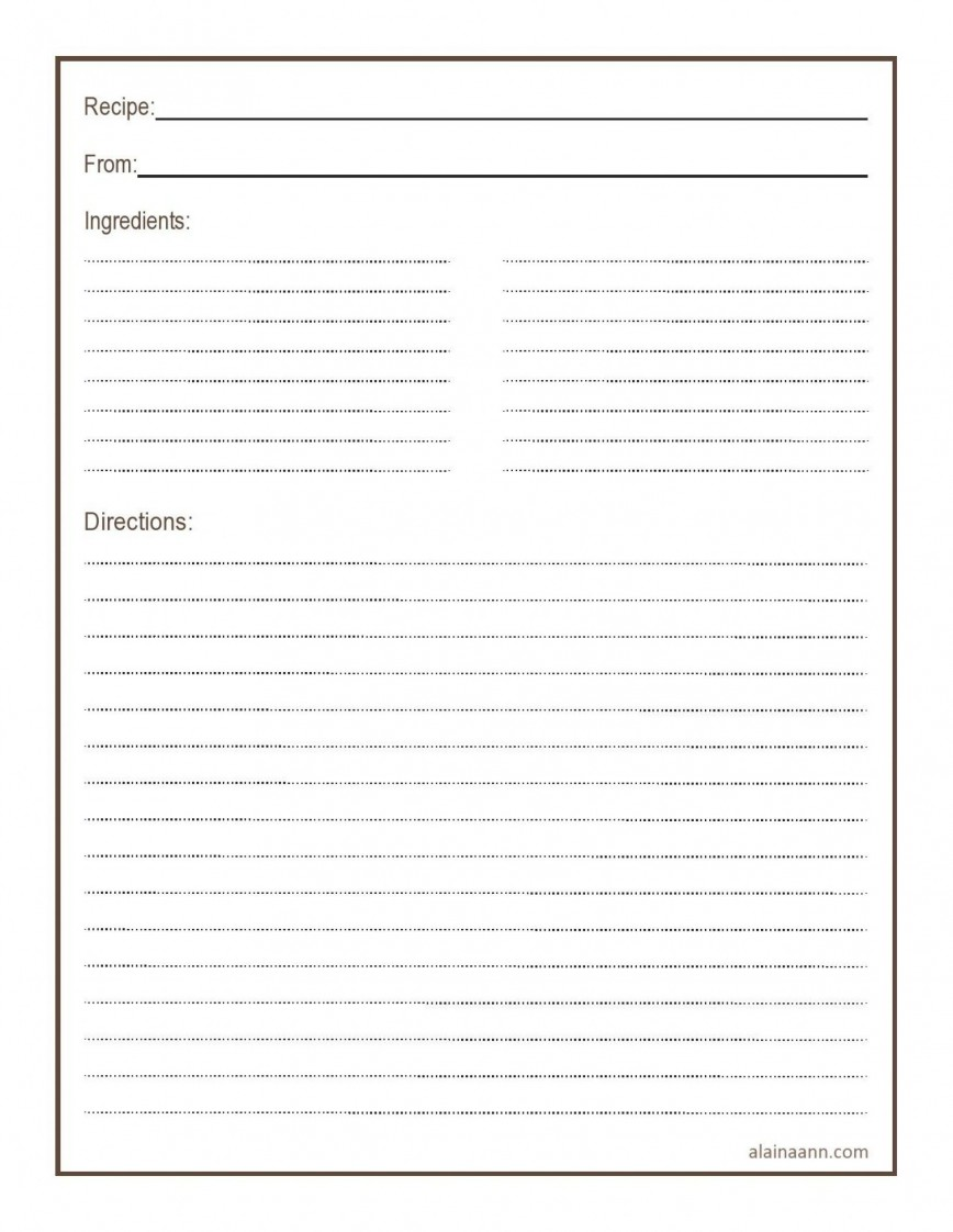 011 Simple Free 4x6 Recipe Card Template For Microsoft Word Highest Quality  Editable868