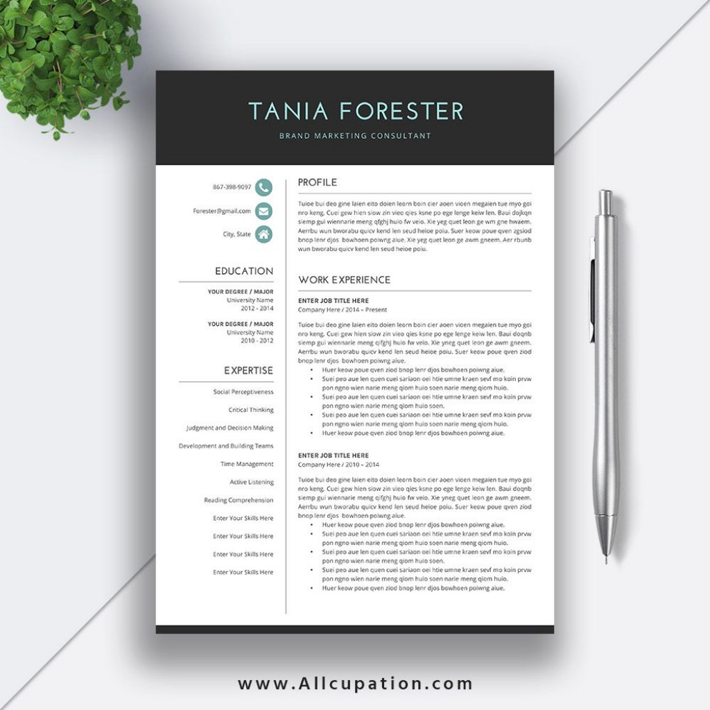 011 Simple Resume Template Word Download Design  For Fresher In Format Free 2020Large