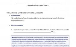 011 Simple Room Rental Agreement Template Alberta Sample