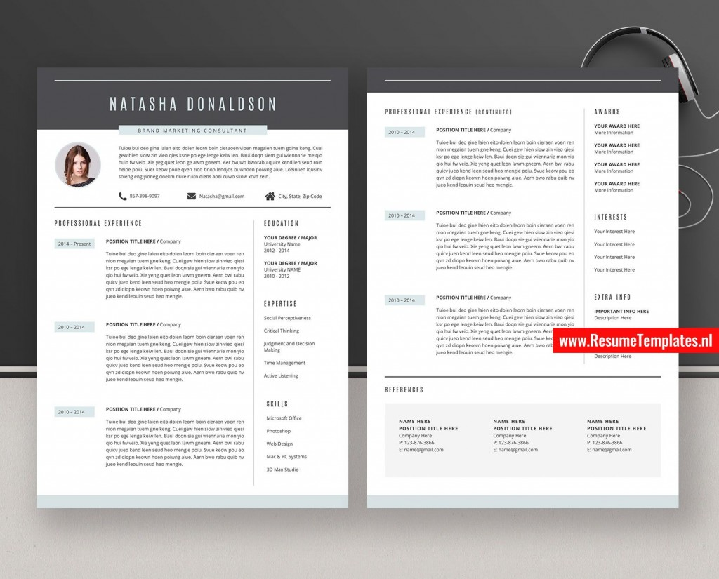 011 Striking Curriculum Vitae Word Template High Definition  Templates Download M 2019 Cv FreeLarge