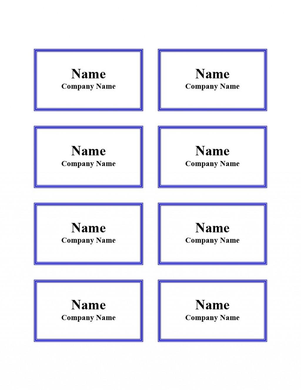 011 Striking Name Badge Template Word Sample  Free Download 2010 Avery 5392Large