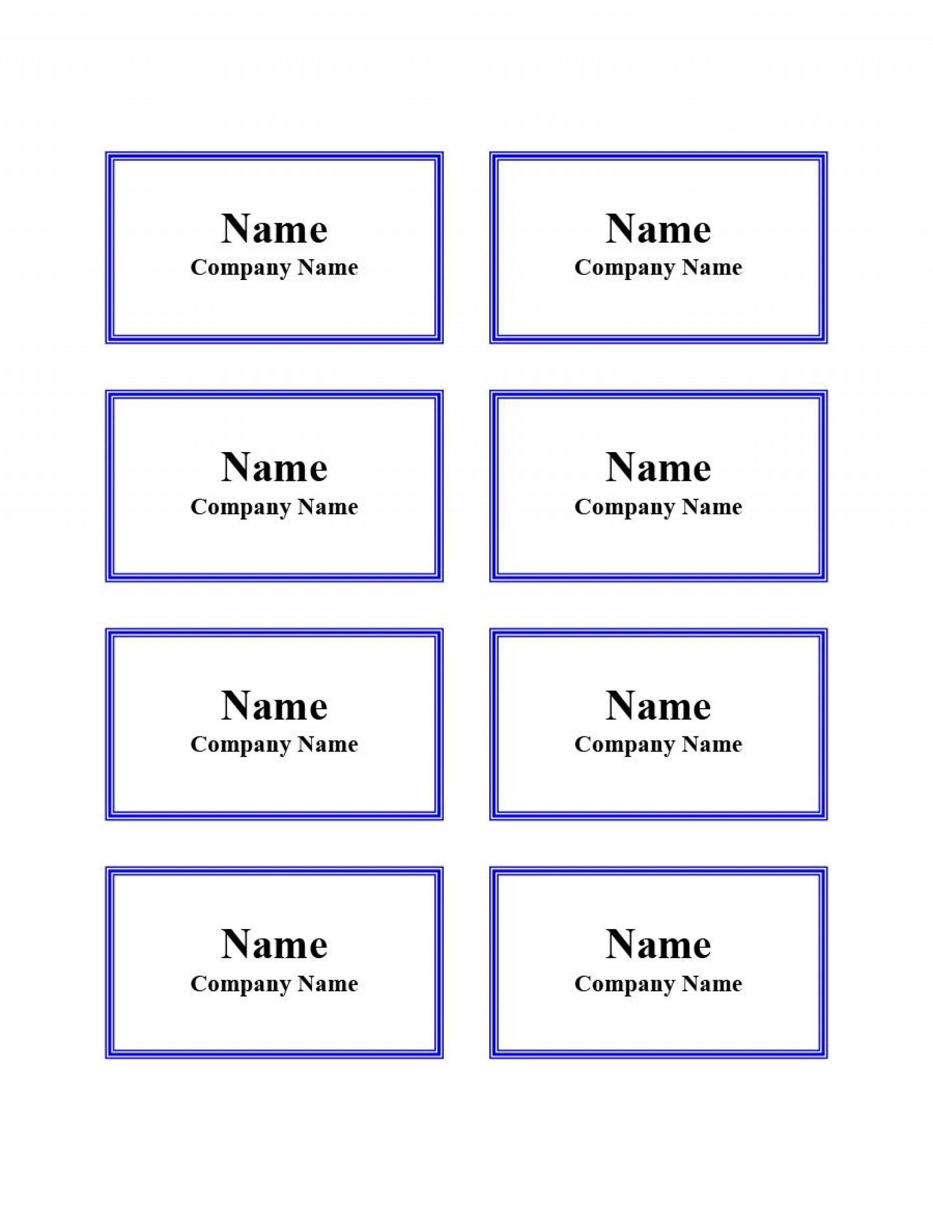 011 Striking Name Badge Template Word Sample  Free Download 2010 Avery 53921920