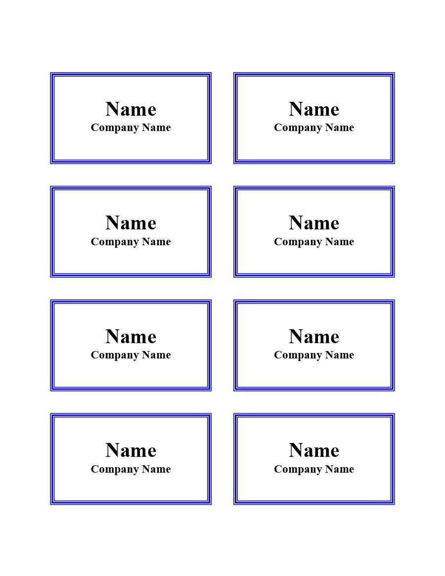 011 Striking Name Badge Template Word Sample  Free Download 2010 Avery 5392Full