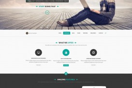 011 Striking One Page Website Template Psd Free Download Highest Clarity