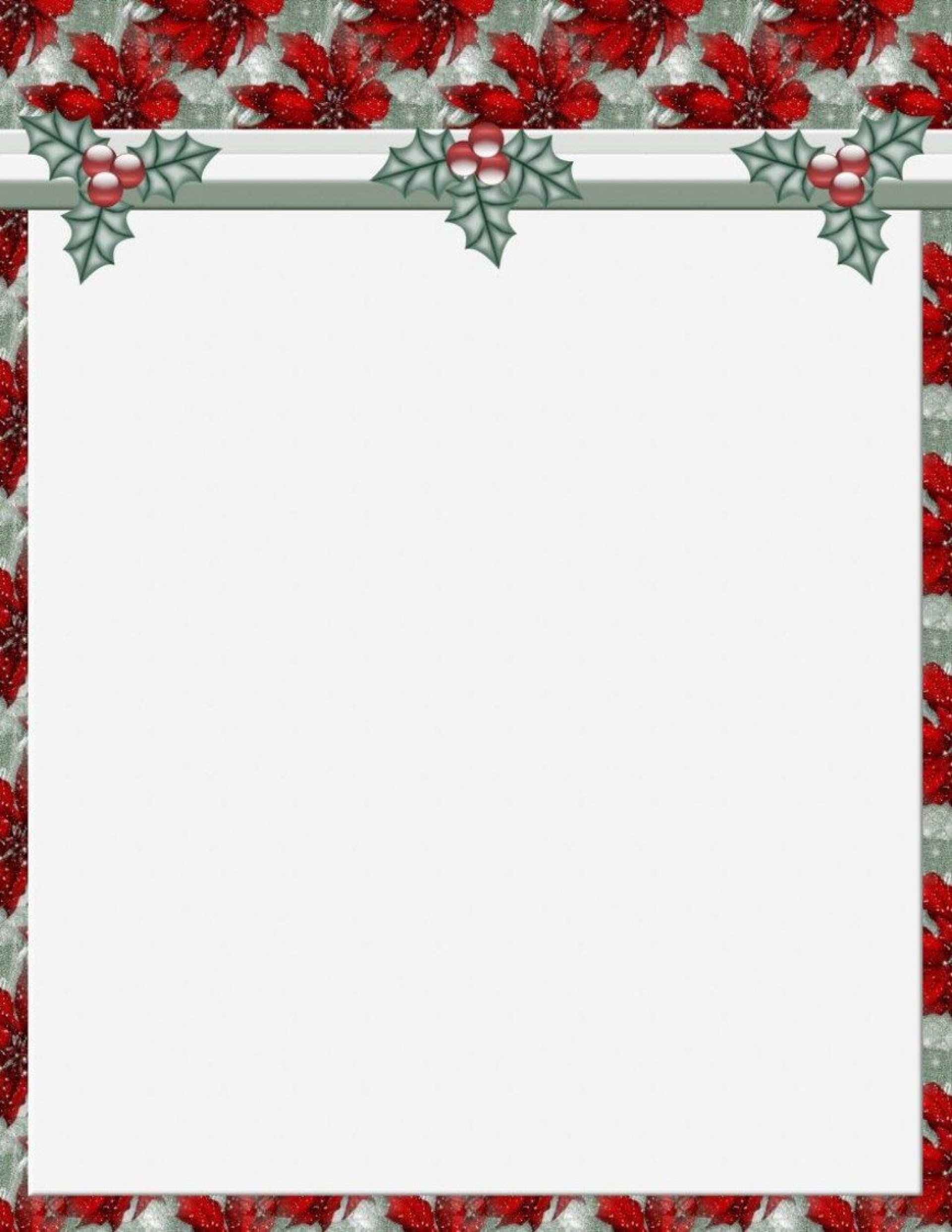 011 Stunning Free Holiday Stationery Template For Word Highest Clarity 1920