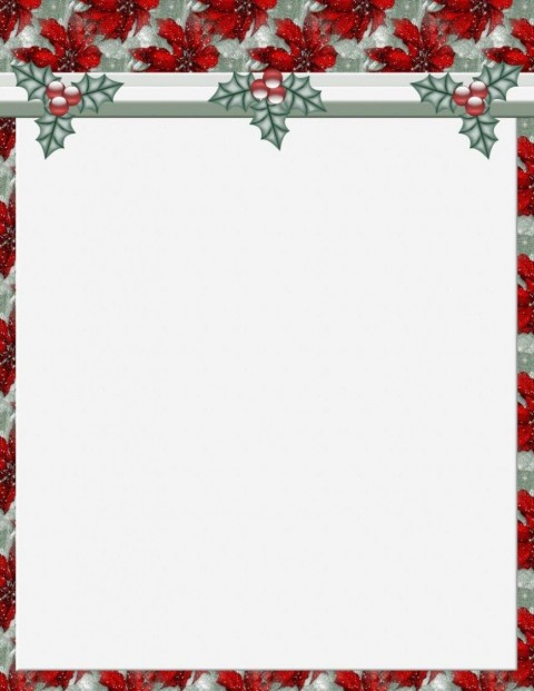 011 Stunning Free Holiday Stationery Template For Word Highest Clarity 480