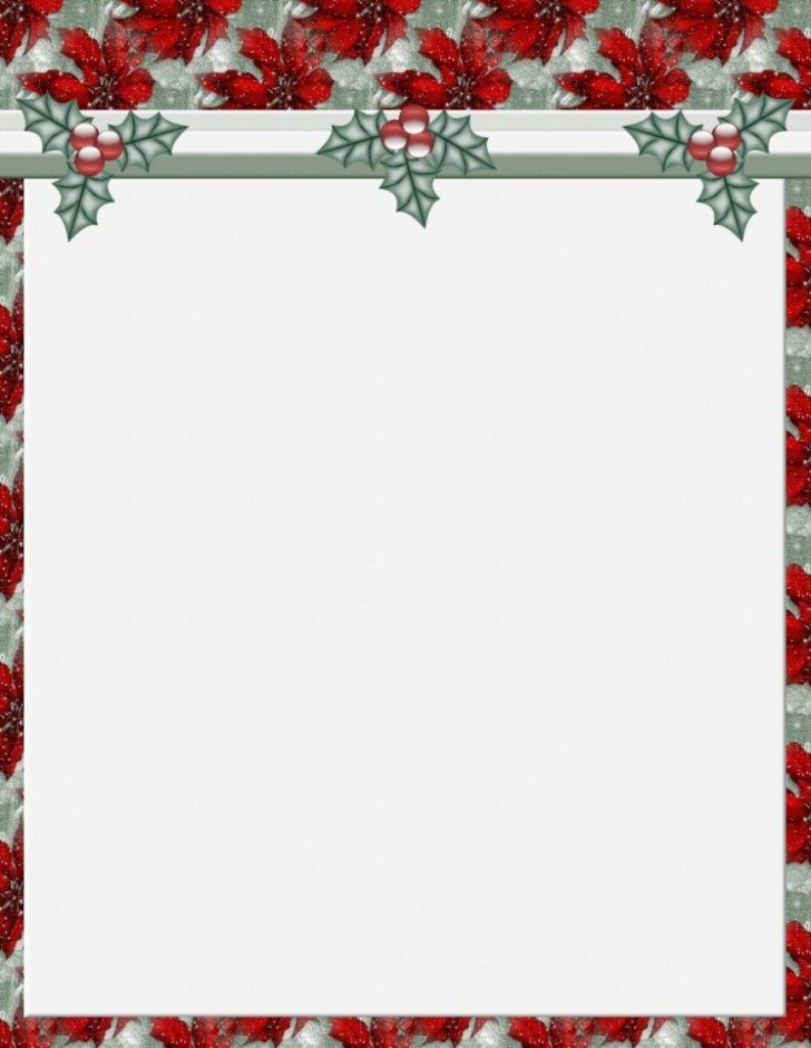 011 Stunning Free Holiday Stationery Template For Word Highest Clarity 728