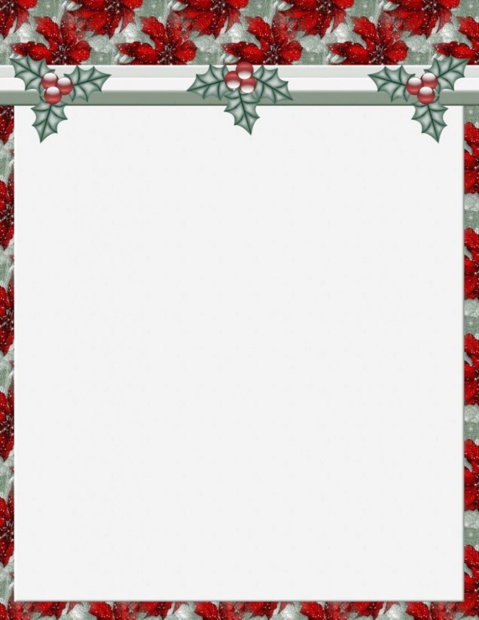 011 Stunning Free Holiday Stationery Template For Word Highest Clarity 960