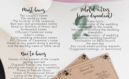 011 Stupendou Wedding Order Of Service Template Word Concept  Free Microsoft