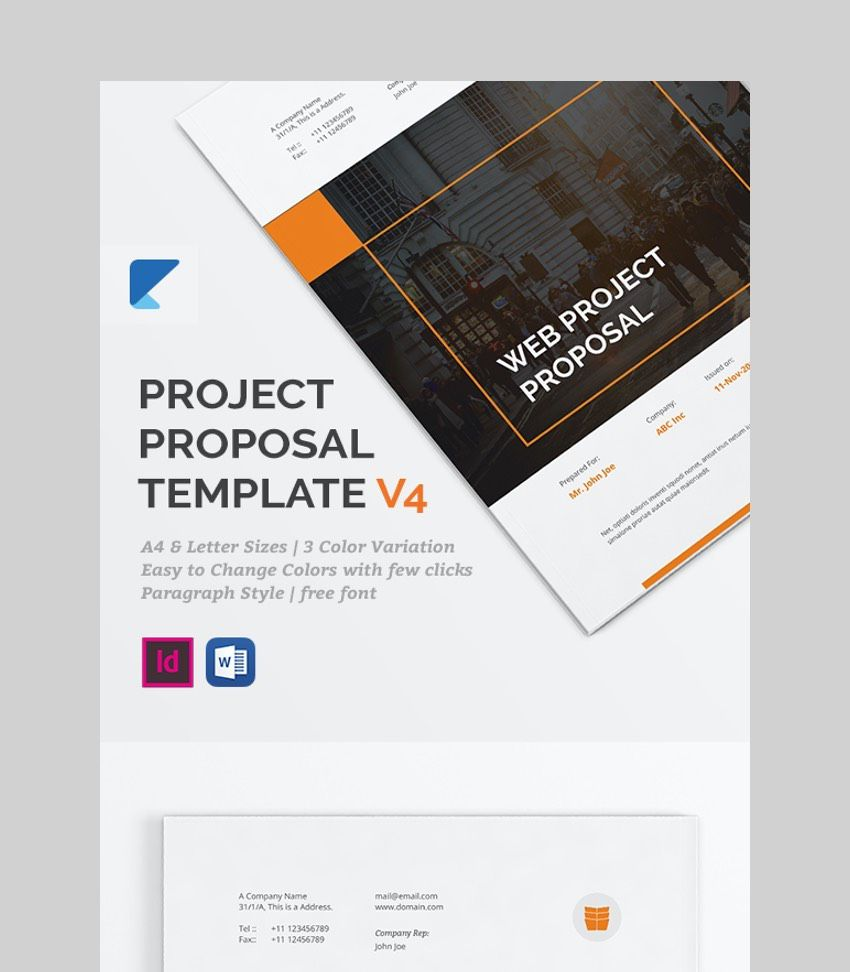 011 Unbelievable Free Project Proposal Template Image  Document Ppt PdfFull