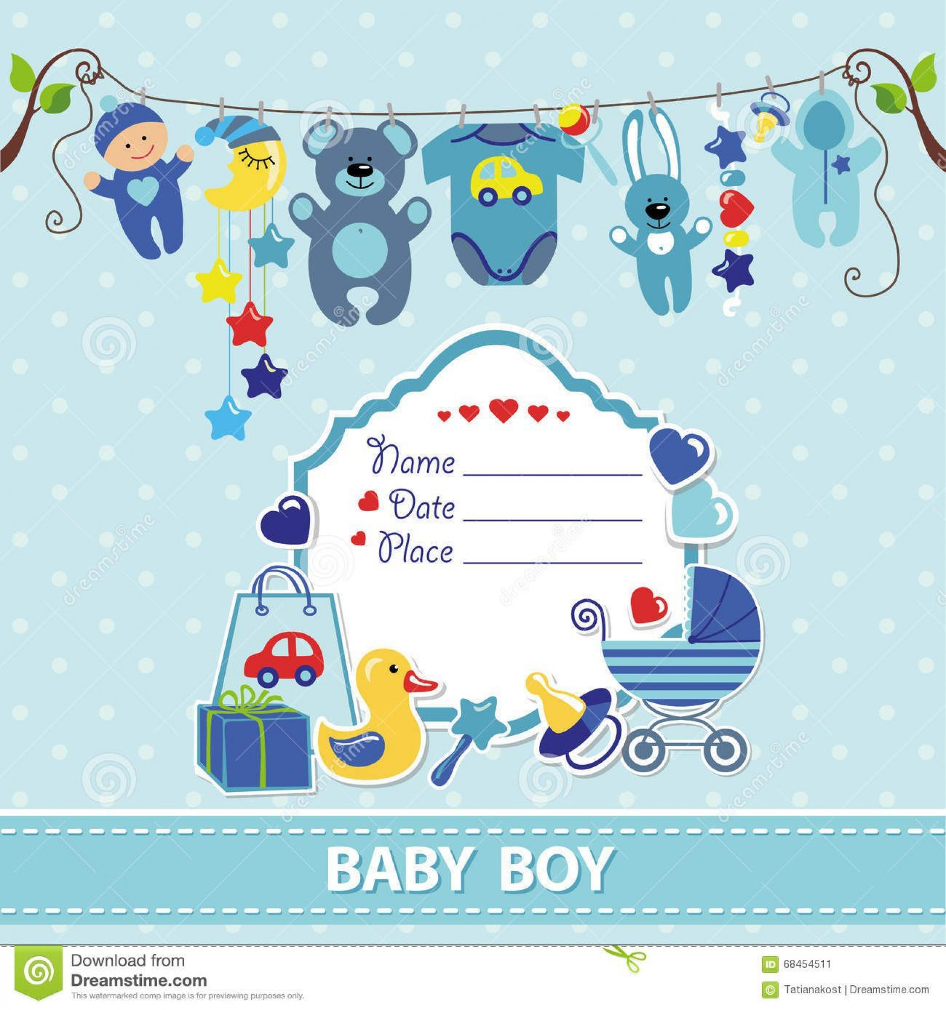 011 Unforgettable Free Baby Shower Invitation Template For Boy Idea 1920