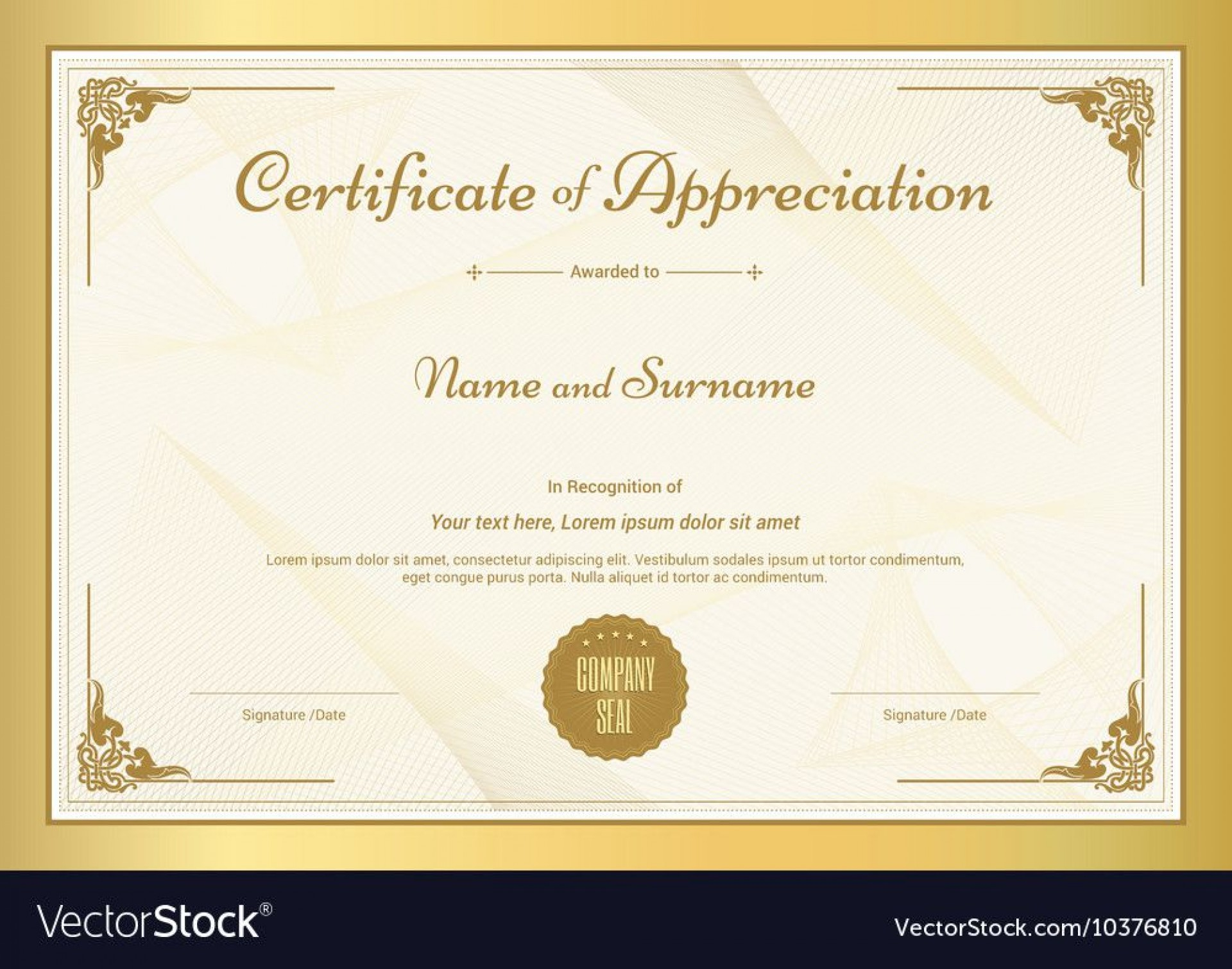 011 Unique Certificate Of Appreciation Template Free High Def  Microsoft Word Download Publisher Editable1920