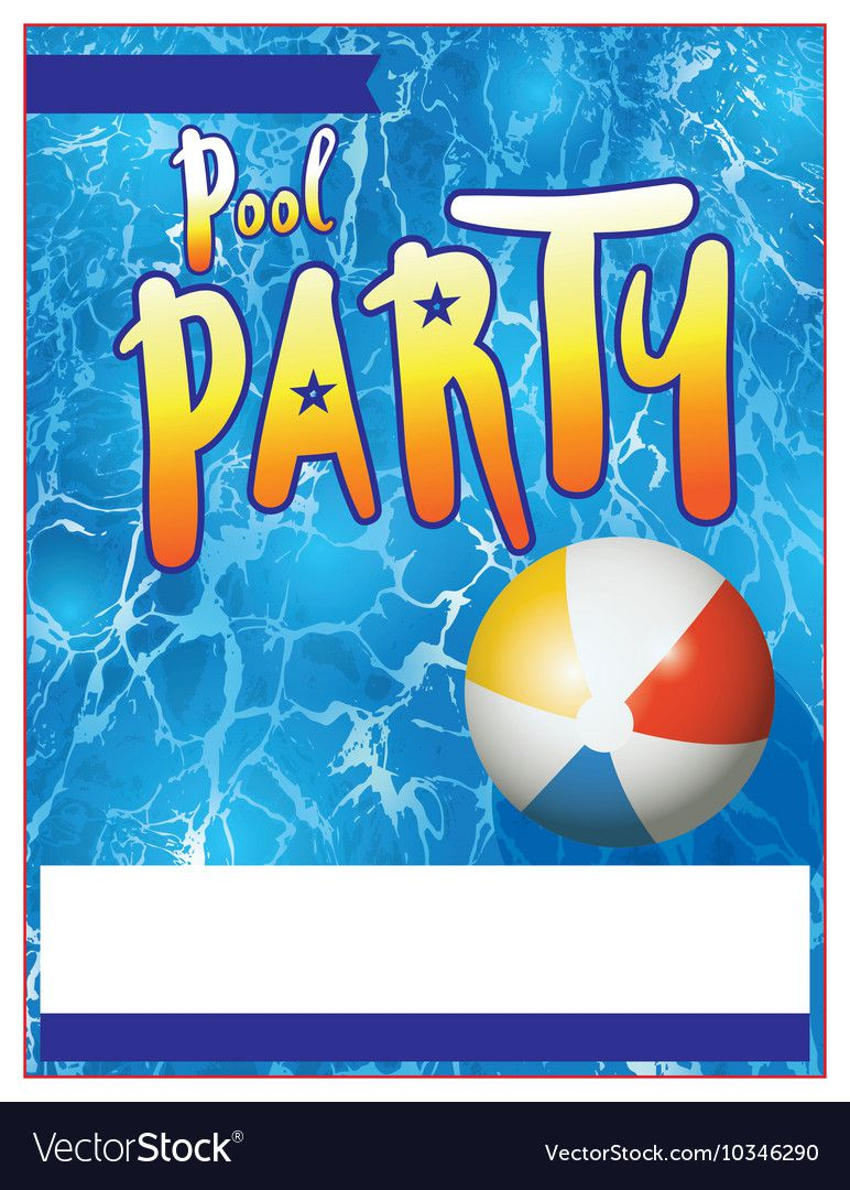 011 Unique Pool Party Flyer Template Free Concept  Photoshop PsdFull