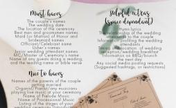 011 Unique Wedding Order Of Service Template Free Idea  Uk Church Download
