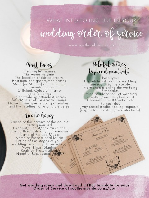 011 Unique Wedding Order Of Service Template Free Idea  Front Cover Download Church480