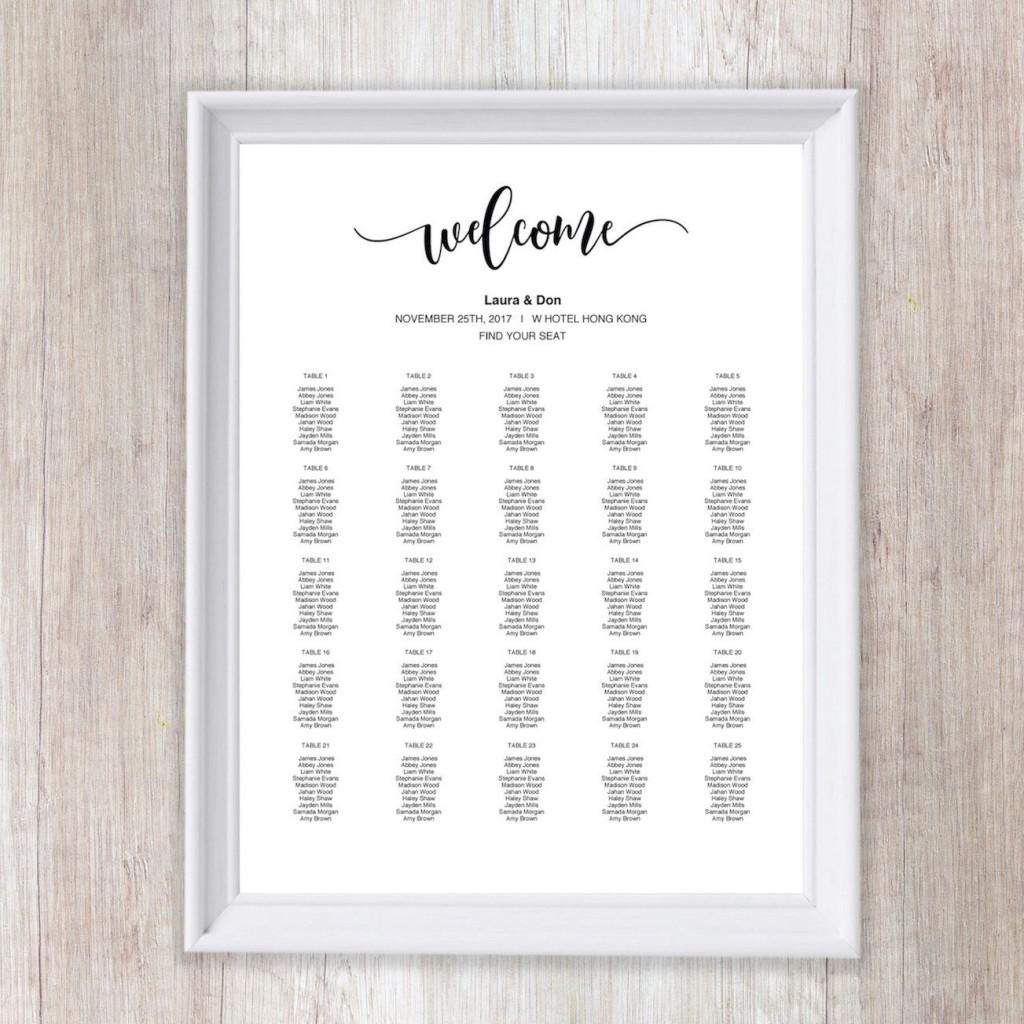 011 Wonderful Wedding Seating Chart Template Concept  Templates Plan Excel Word MicrosoftLarge