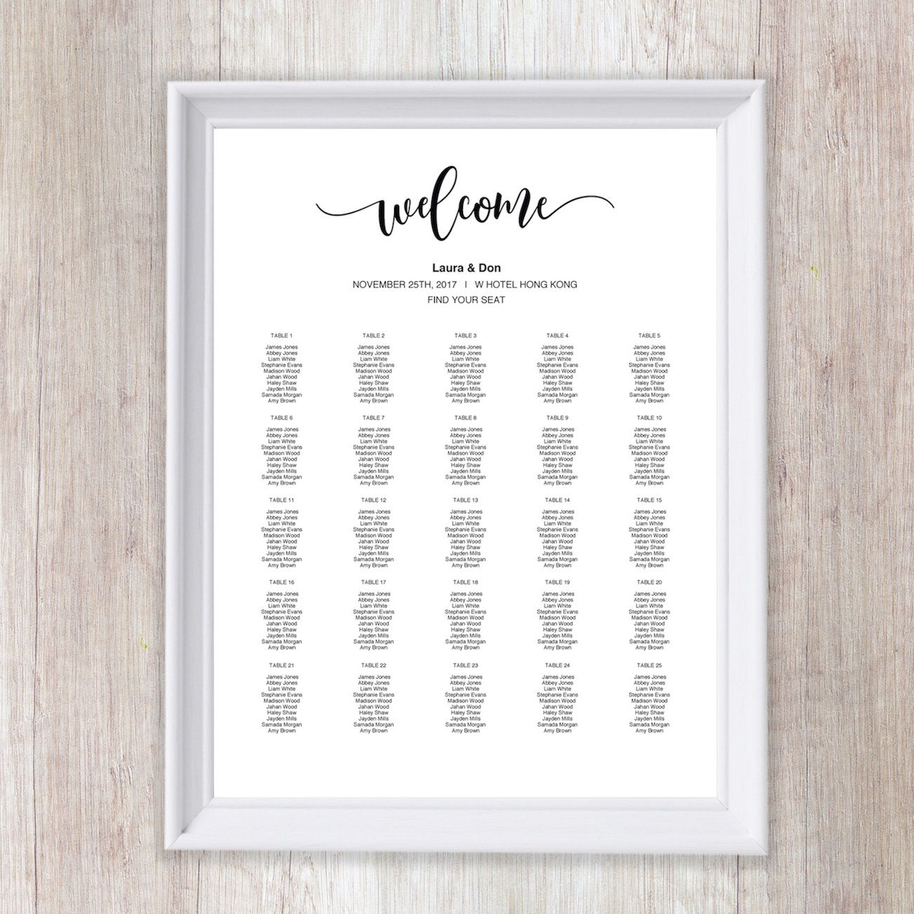 011 Wonderful Wedding Seating Chart Template Concept  Templates Plan Excel Word MicrosoftFull