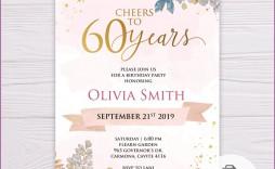 011 Wondrou 60 Birthday Invite Template High Definition  Templates 60th Printable Free