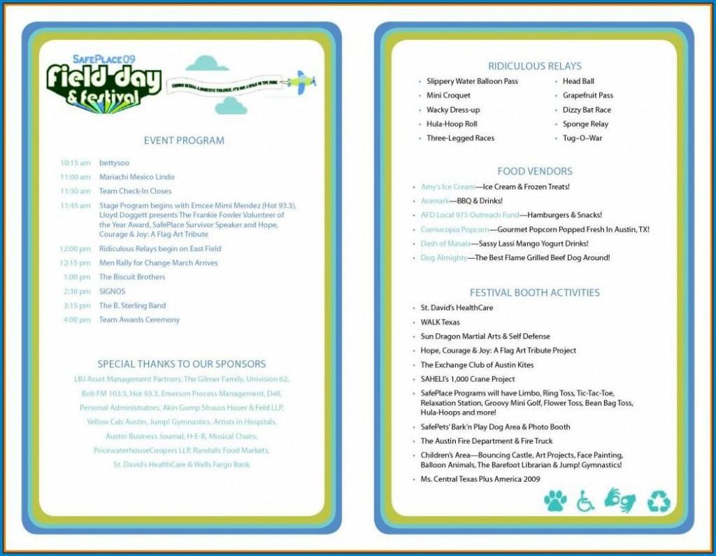 011 Wondrou Free Event Program Template Idea  Templates Half Fold Online DownloadLarge