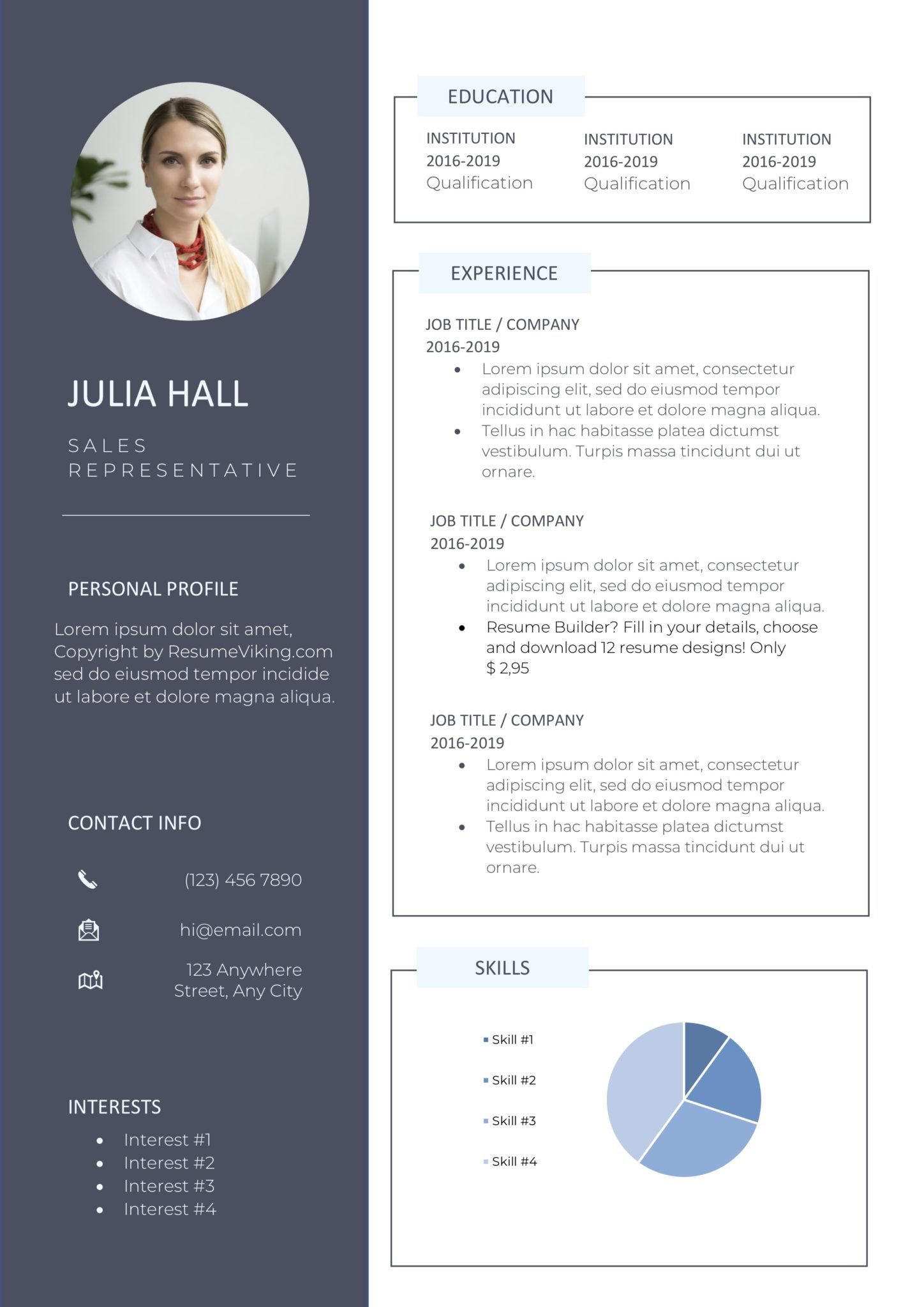 012 Best Professional Resume Template Free Download Word Picture  Cv 2020 Format With PhotoFull