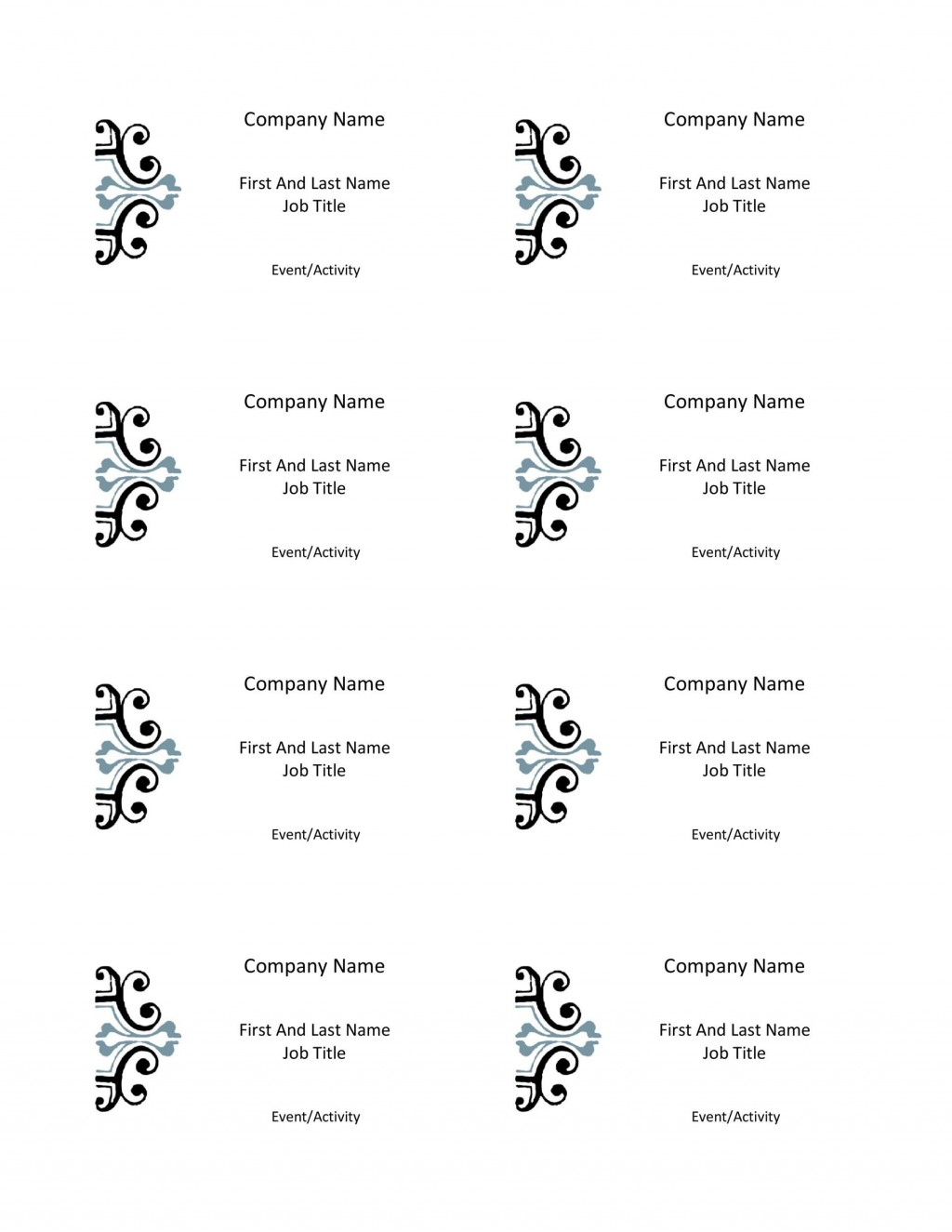 012 Dreaded Name Badge Template Word Concept  Free Download 2010 Avery 5392Large
